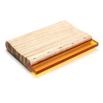 75 Durometer 20cm 8 Inch Silk Screen Scrapers Printing Squeegee Wooden Handle Rubber Blade