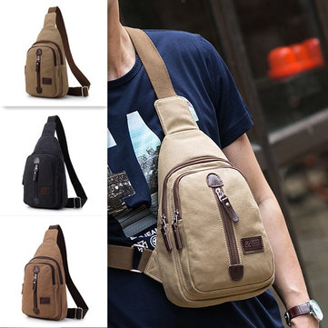 Canvas multifunctionele outdoor reizen casual borsttas crossbody tas voor mannen