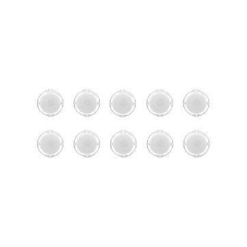 10Pcs White Transparent 30MM Card Button Crystal Small Circular Arcade Game Push Button Switch