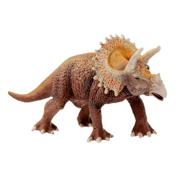 SNAEN 20CM PVC Dinosaurs Toy Triceratops Figure Animal Jurassic World Figures Diecast Model
