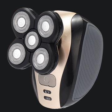 Rasoir rasoir à tête chauve rasoir ergonomique rechargeable IPX7 2 en 1 étanche