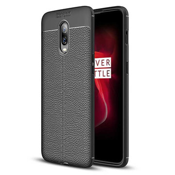 Bakeey™ Litchi Pattern Shockproof Soft TPU Back Cover Protective Case for OnePlus 6T