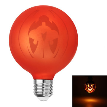 E27 G95 1.8W Warm White Decorative Halloween Pumpkin LED Globe Light Bulb for Holiday AC85-265V