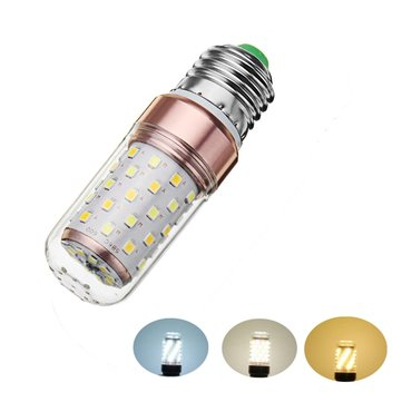 E27 12W Dimmable SMD2835 60LEDs Warm White Natural White Pure White Corn Light Bulb AC220V