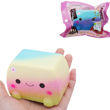 Vlampo Japanese Tofu Squishy Toy 8*8*6CM Slow Rising With Packaging Collection Gift