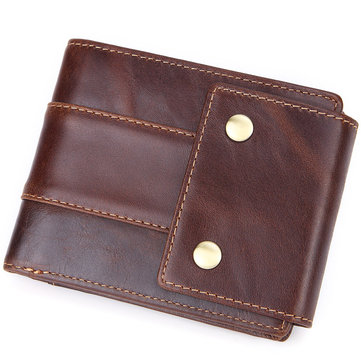 Men Genuine Leather Mini Hasp Wallet Brand High Quality Vint