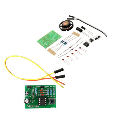10pcs DIY NE555 Ding Dong Bell Doorbell Module Kit DIY Music DIY Electronic Production Training Kit
