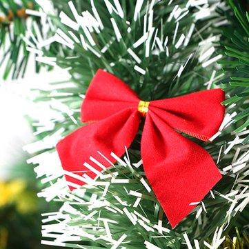ต้นคริสต์มาสสีแดง 2pcs ตกแต่งโบว์โบว์สำหรับตกแต่งบ้านปีใหม่ของ Bauble