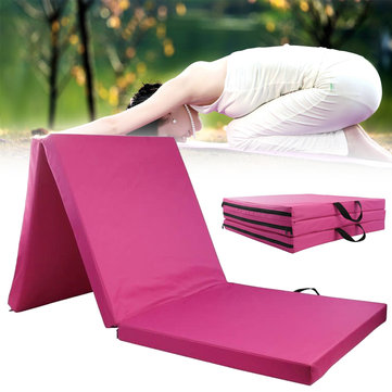 Gymnastics Mat 3 Folding Panel Yoga Aerobics Exercise Tumbling Rolling Sports Protective Pad