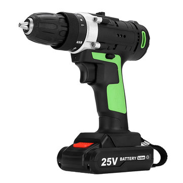 25V 2 Speed Cordless Lithium Electric Screwdriver 15 Gear Rechargeable Power Drills 1500mAh Driver Drill 1350RPM