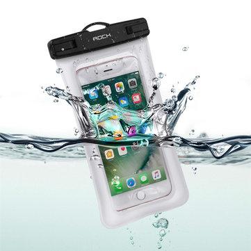KayaGasbagIPX8SuGeçirmezParmak Izi Kilidini Ekran Dokunmatik Telefon Kılıfı için Çanta iPhone Xiaomi