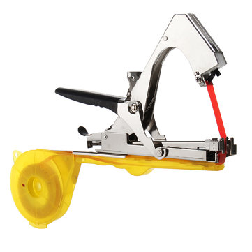 Yellow Plant Vegetables Tying Tapetool Tapener Machine With 10Pcs Tapes Staples