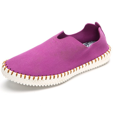US Size 5-11 Loafers Casual Women Flat Shoes In Suede