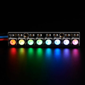 NeoPixel Straight Board 8x 5050 RGBW Cool White LED 6000K With Integrated Drivers Module