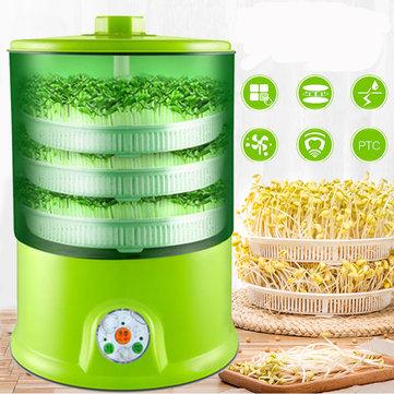 수제 다기능 콩 콩나물 기계 220V 자동 1.5L 3 레이어 콩나물 기계