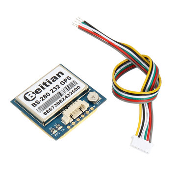 5PCS Beitian BS-280 232 GPS Receiver Module 1PPS Timing With Flash + GPS Antenna