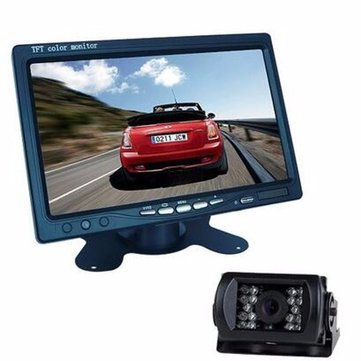 7 Inch TFT LCD Monitor + Bus Lorry Night Vision Rear View Waterproof Camera + 10m Video Cable