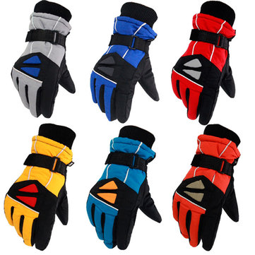 Motorcycle Outdoor Full Finger Glove Cycling Ski Windproof Warm Waterproof Polar fleece