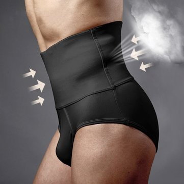 Body Sculpting Hips Lifting Fitness High Waist Underwear Shapewear Abdomen Shorts for Men