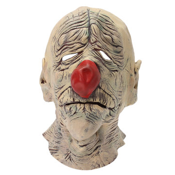 Old Clown Face Mask Halloween Scary Circus Cosplay Prop Fancy Dress Up