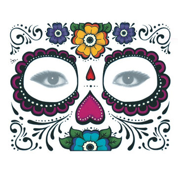 10pcs Disposable Eyeshadow Sticker Magic Eye Face Temporary Tattoo For Halloween Party