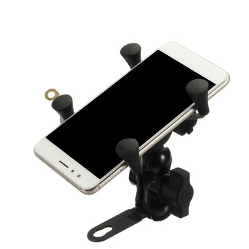 Motorcycle Bike Handlebar Mount Holder Clip USB Charger For 3.5-6inch Mobile Phone GPS
