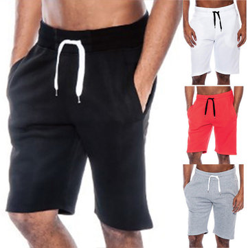 Men Sport Pants Loose Drawstring Gym Fitness Training Running Shorts Trousers