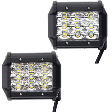 4 Inch DC10-30V 54W 4500LM 6000K LED Spot/Flood Beam Work Light Bar for Off Road Vehicle Truck Boat