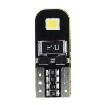 1PCS T10 2835 SMD LED Car Wedge Side Marker Lights Map Dome License Plate Bulb 1.8W 76LM