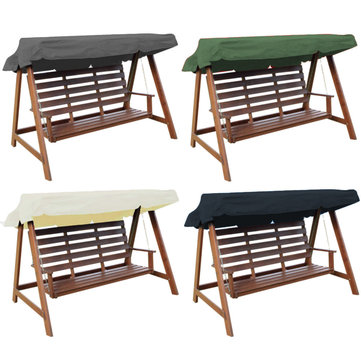 235x120x18cm 3 Seaters Swing Chair Waterproof Cover Swing Roof Outdoor Top Canopy Tent Sunshade