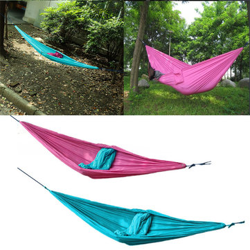 Outdoor Double Person Hangmat Swing Bed Draagbare Parachute Reis Camping 260CM X 140CM