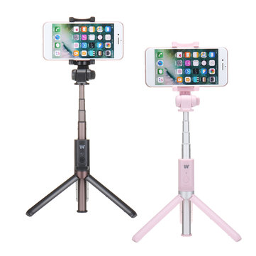 Dispho Universal Bluetooth Shutter 360 Degree Rotation Extendable Selfie Stick Phone Tripod Mount Monopod