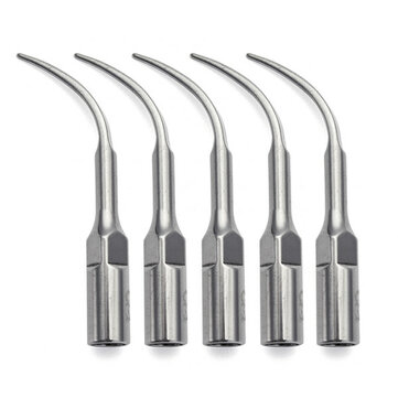 5Pcs Dental Ultrasonic Piezo Scaler Scaling Tip G4 For EMS Woodpecker Handpiece