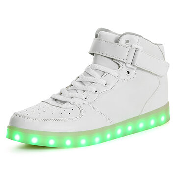 Unisex USB LED Light Luminous Couple Sneakers