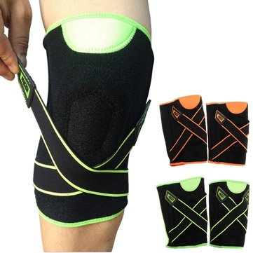 Double Spring Pressure Sport Knee Sleeve Protector Brace Pad Knee Pads Guard Cinto