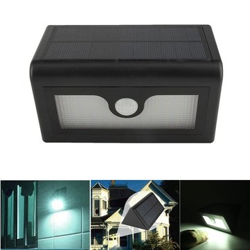 50 LED Solar Power Light & PIR Sensor Wall Light Outdoor Garden Lamp