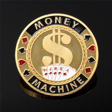 40 * 2.5 мм металла покер гвардии карты протектор монета чип цвет позолоченный с круглый пластиковый корпус
