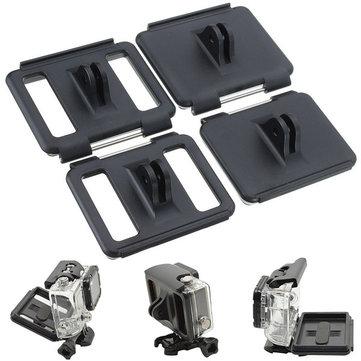 4 In 1 Back Door Waterproof Open Door Back Case Cover Mount For Gopro Hero 3 3 Plus 4