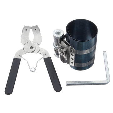 Piston Ring Caliper Pliers Compressor Installer Ratchet Plier Remover Expander Engine Tool