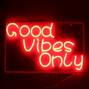 Good Vibes Only Neon Art Sign Handmade Visual Artwork Wall Decor Light