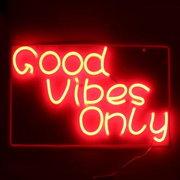 Good Vibes Only Neon Art Sign Handmade Visual Artwork Wall Decor Light