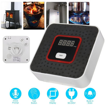JKD-818 Intelligent LCD Combustible Gas Leakage Alarm Sensor Tester Home Security