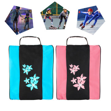 Ice Skating Shoes Bag Breathable Dustproof Handbag Triangle Roller Skates Carrying Shoulder Bag