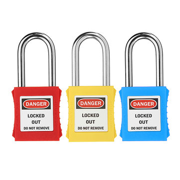 38mm Keyed-Alike Message Padlock Sets ABS Steel Lock Plastic Security Industry Padlock