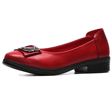 Casual Leather Comfy Slip On Flat Loafers