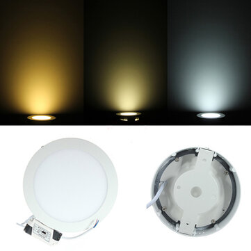 9W Round Dimmable LED Panel Ceiling Down Light Lamp AC 85-265V