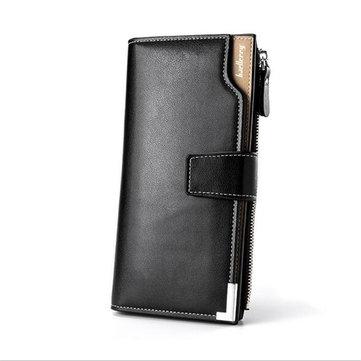Multifunctional PU Leather Men Wallet Zipper Bag Clutch Card Holder Phone Case for iPhone Samsung