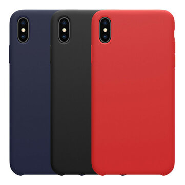 NILLKIN Smooth Shockproof Liquid Silicone Rubber Back Cover Protective Case for iPhone XS Max