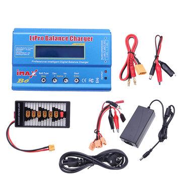 Original IMax B6 50W 5A Batería Equilibrio del cargador con la placa paralela de la fuente de alimentación XT60 de 12V 5A