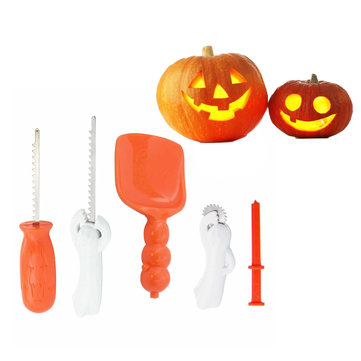 Halloween Pumpkin Carving Tools 5 Piece Set Halloween Carving Kit 5 Carving Tools Kids and Party